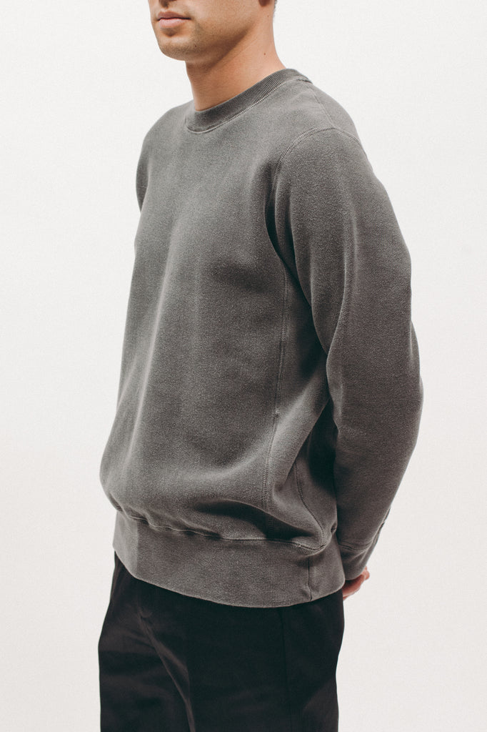 Natural Dyed Crew Fleece - Charcoal
