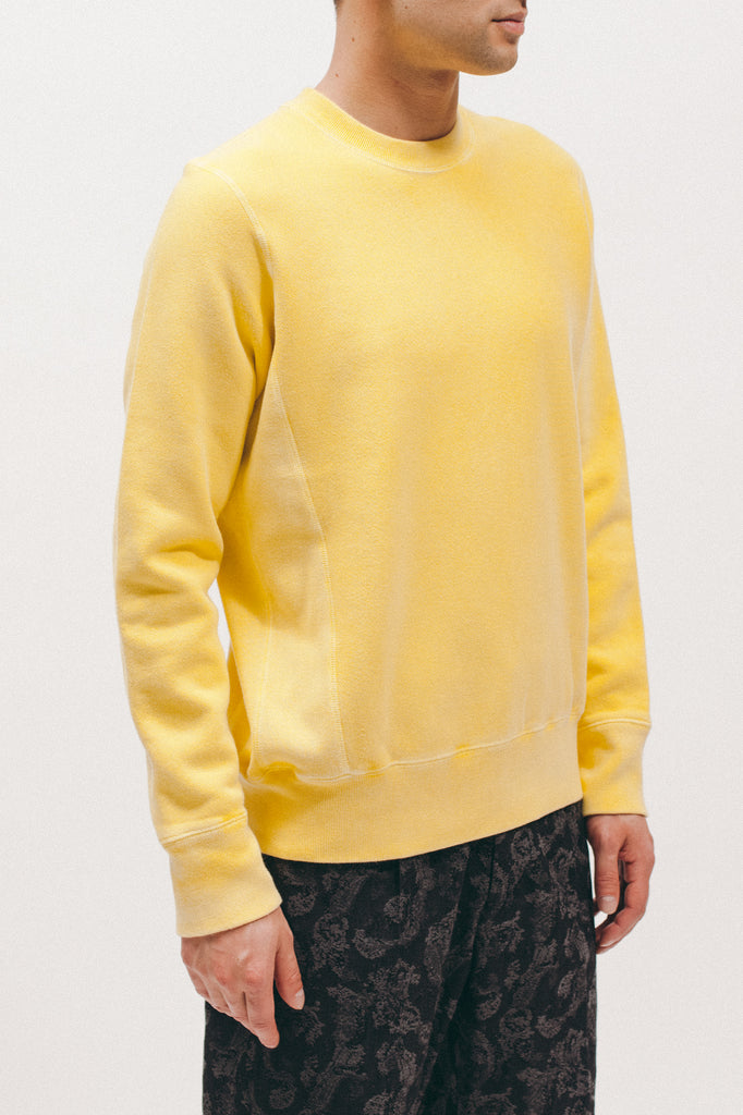 Natural Dyed Crew Fleece - Lemon - [product _vendor]