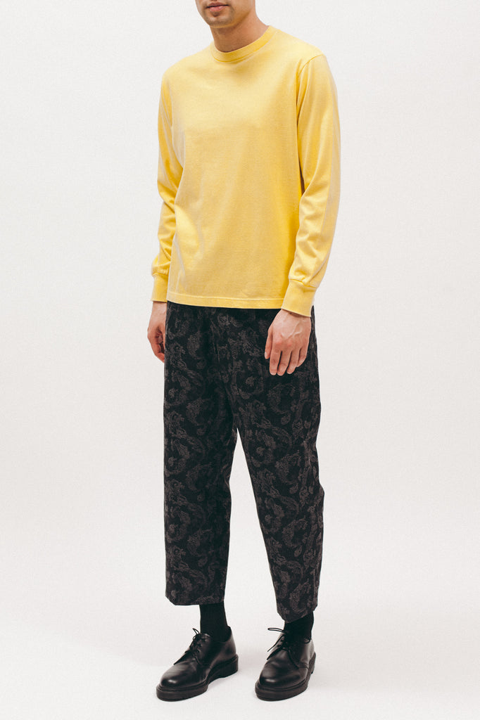 Natural Dyed Block L/S Jersey - Lemon - [product _vendor]