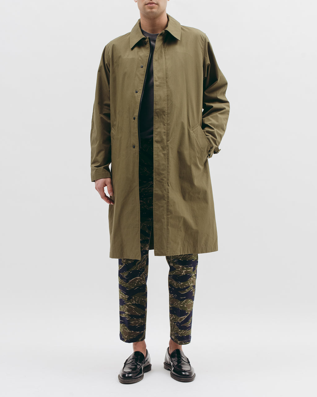 Belted Overcoat - Tropical Green - [product _vendor]