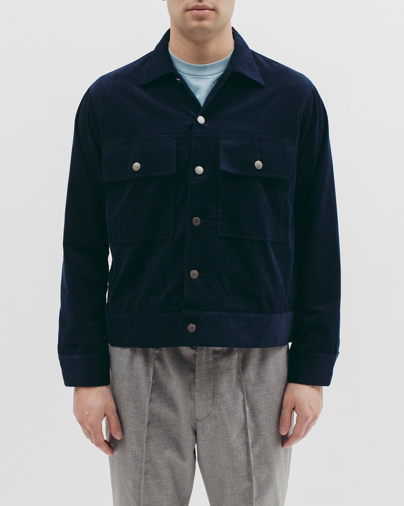 Corduroy Ranch Jacket - Navy - [product _vendor]