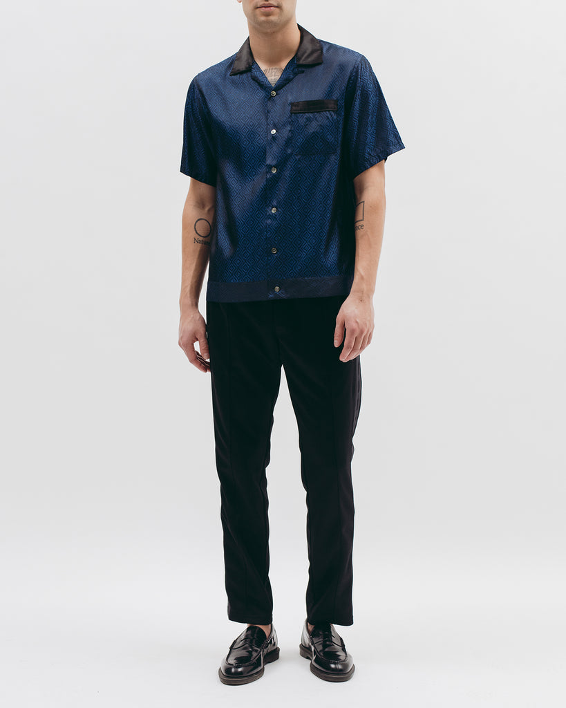 Tile S/S Shirt - Navy - Maiden Noir