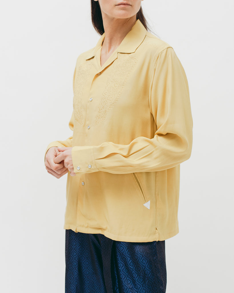 Parque L/S Shirt - Lemon - Maiden Noir