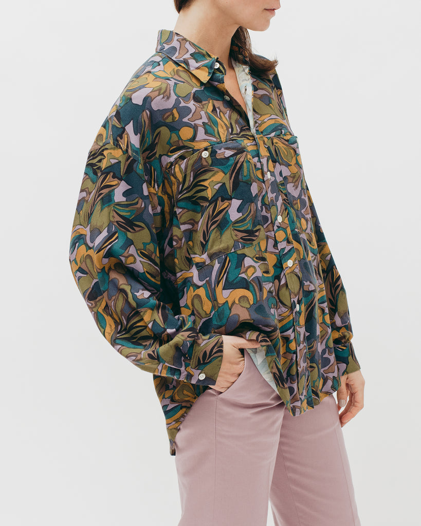 Tropical Oversized L/S Shirt - Lavender - [product _vendor]
