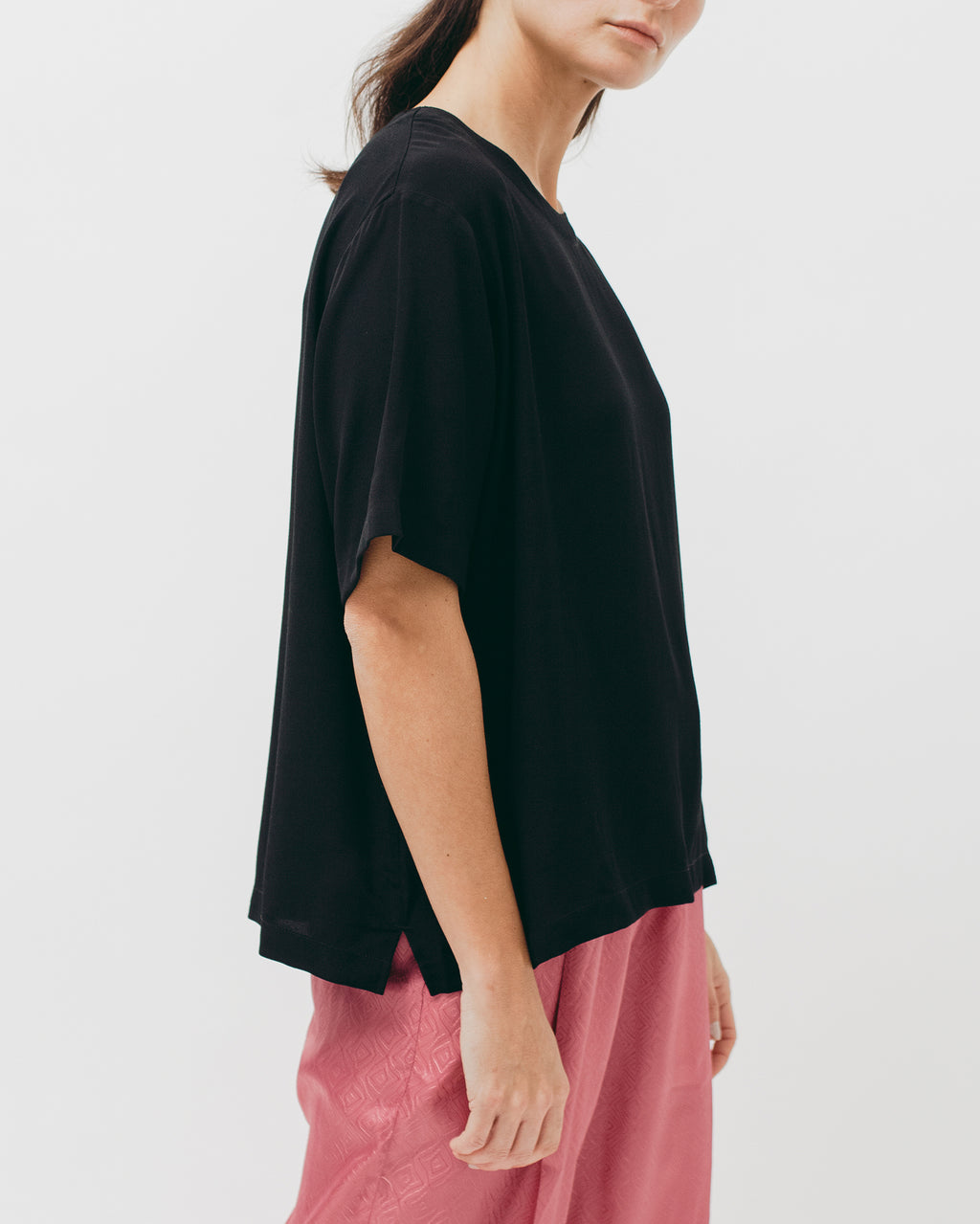 Crepe Rayon S/S Shirt - Black - [product _vendor]