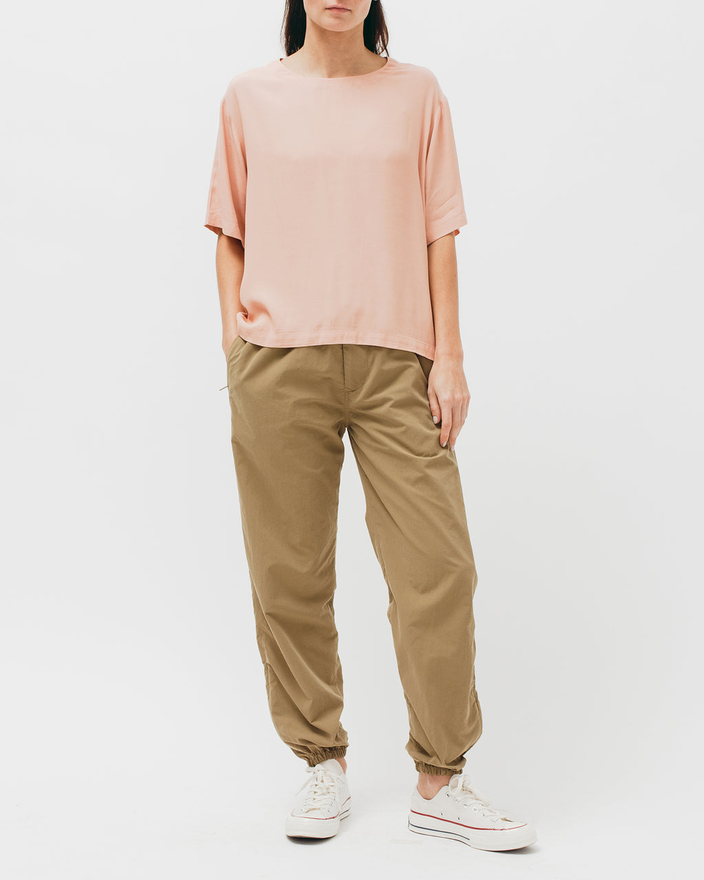 Crepe Rayon S/S Shirt - Coral - [product _vendor]