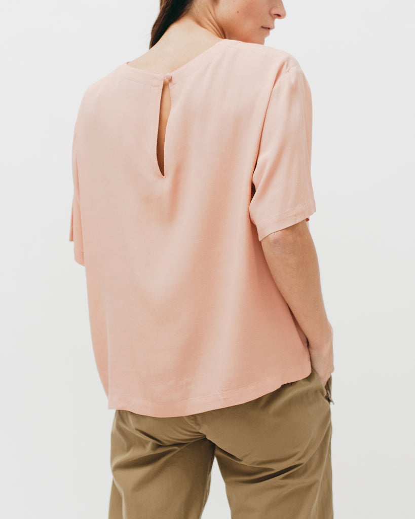 Crepe Rayon S/S Shirt - Coral - Maiden Noir