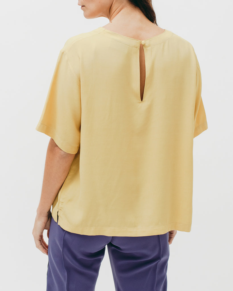 Crepe Rayon S/S Shirt - Lemon - [product _vendor]