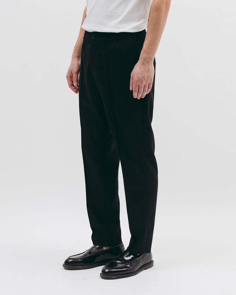 Elastic Pleated Trouser - Black - [product _vendor]