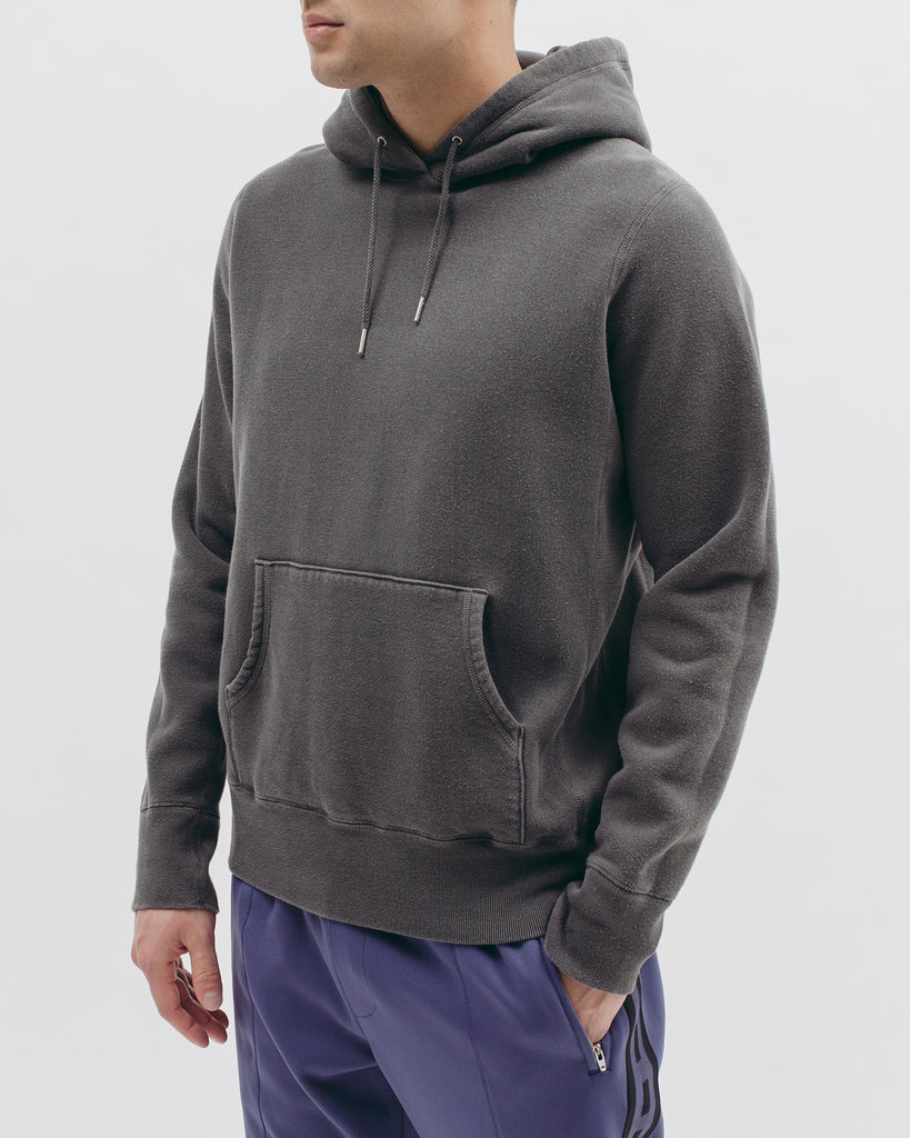 Natural Dyed Hoodie Fleece - Charcoal - Maiden Noir
