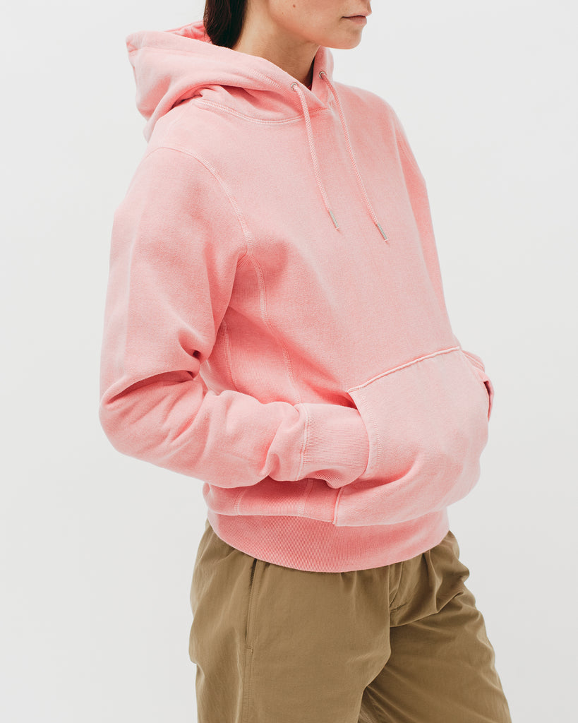 Natural Dyed Hoodie Fleece - Coral - Maiden Noir