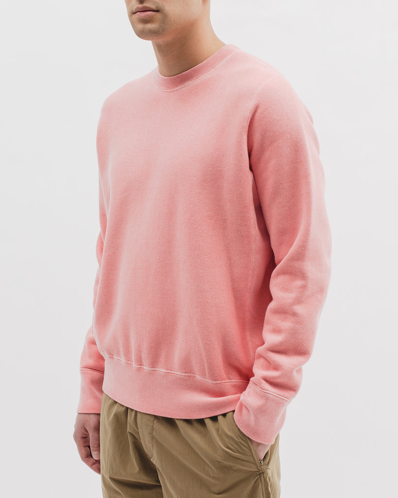 Natural Dyed Crew Fleece - Coral - Maiden Noir