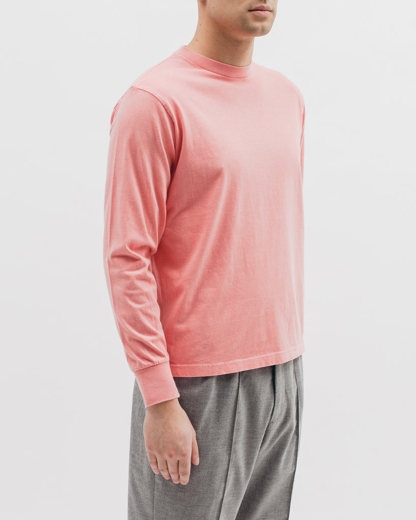 Natural Dyed Block L/S Jersey - Coral - Maiden Noir