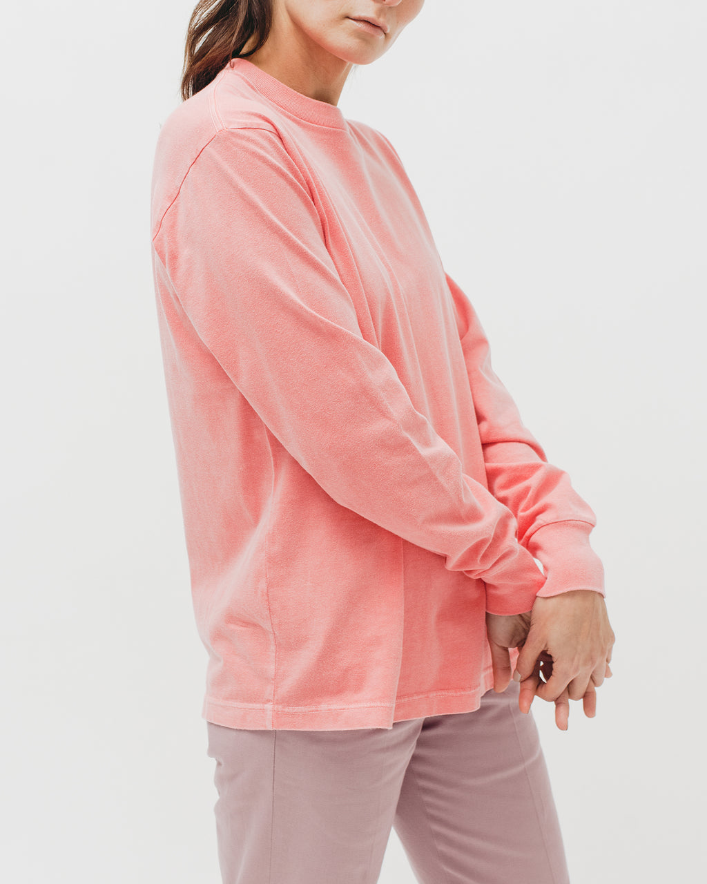 Natural Dyed Block L/S Jersey - Coral - [product _vendor]