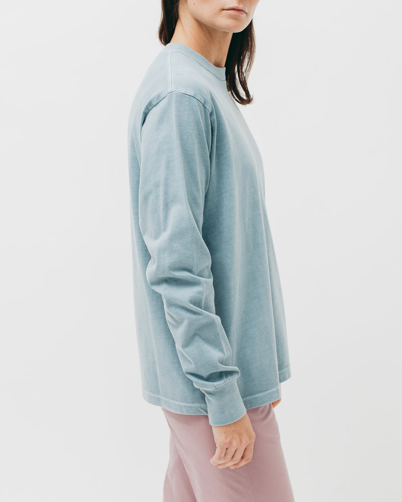 Natural Dyed Block L/S Jersey - Dusty Teal - [product _vendor]