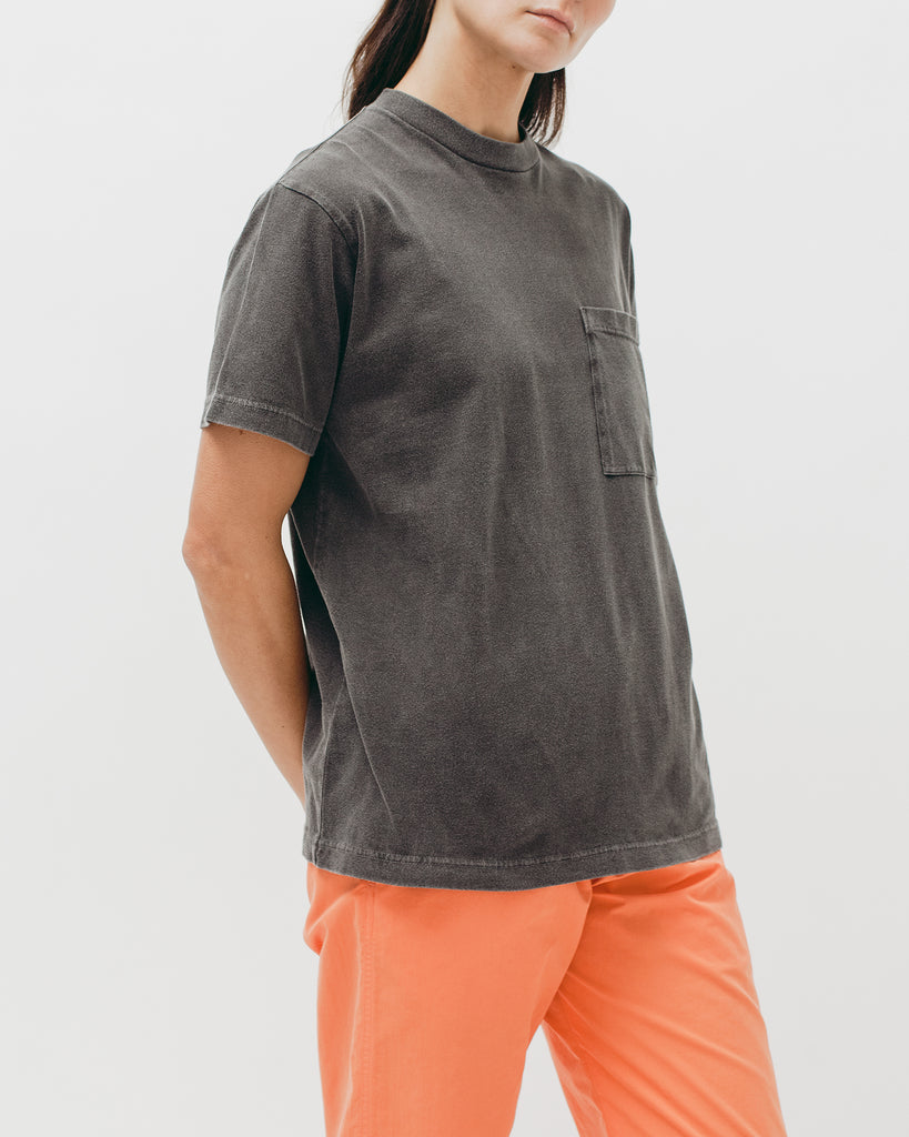 Natural Dyed Block S/S Jersey - Charcoal - Maiden Noir