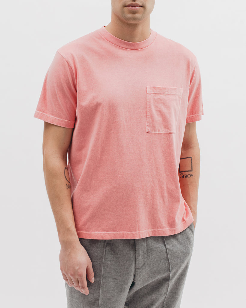 Natural Dyed Block S/S Jersey - Coral - [product _vendor]
