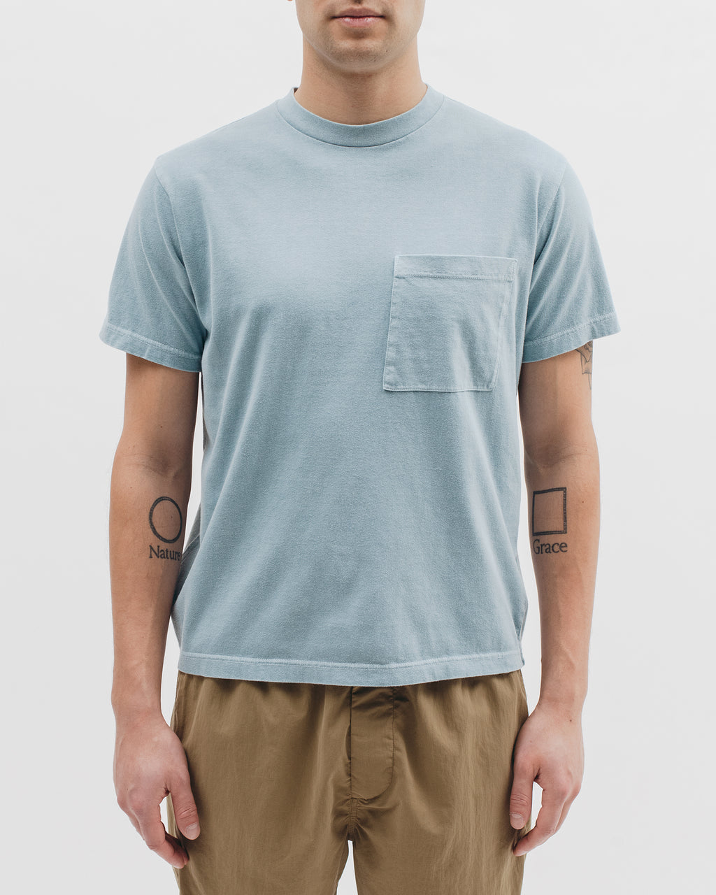 Natural Dyed Block S/S Jersey - Dusty Teal - [product _vendor]