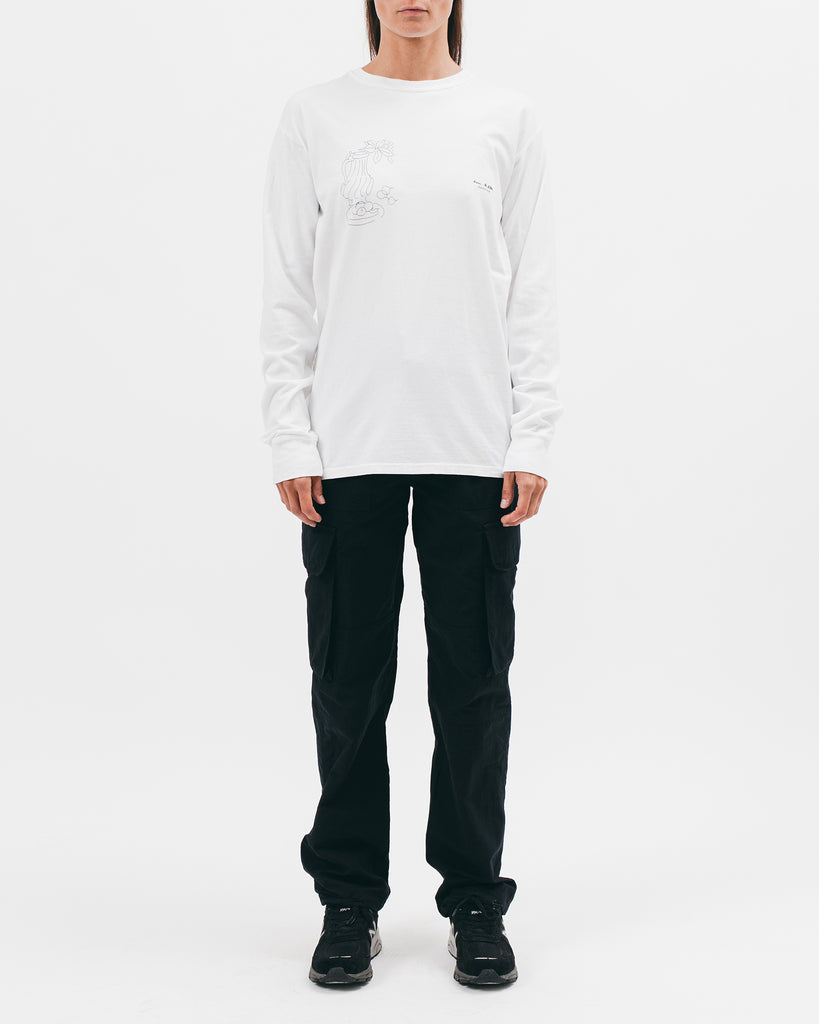 Window Into Tangier L/S Tee - White - [product _vendor]