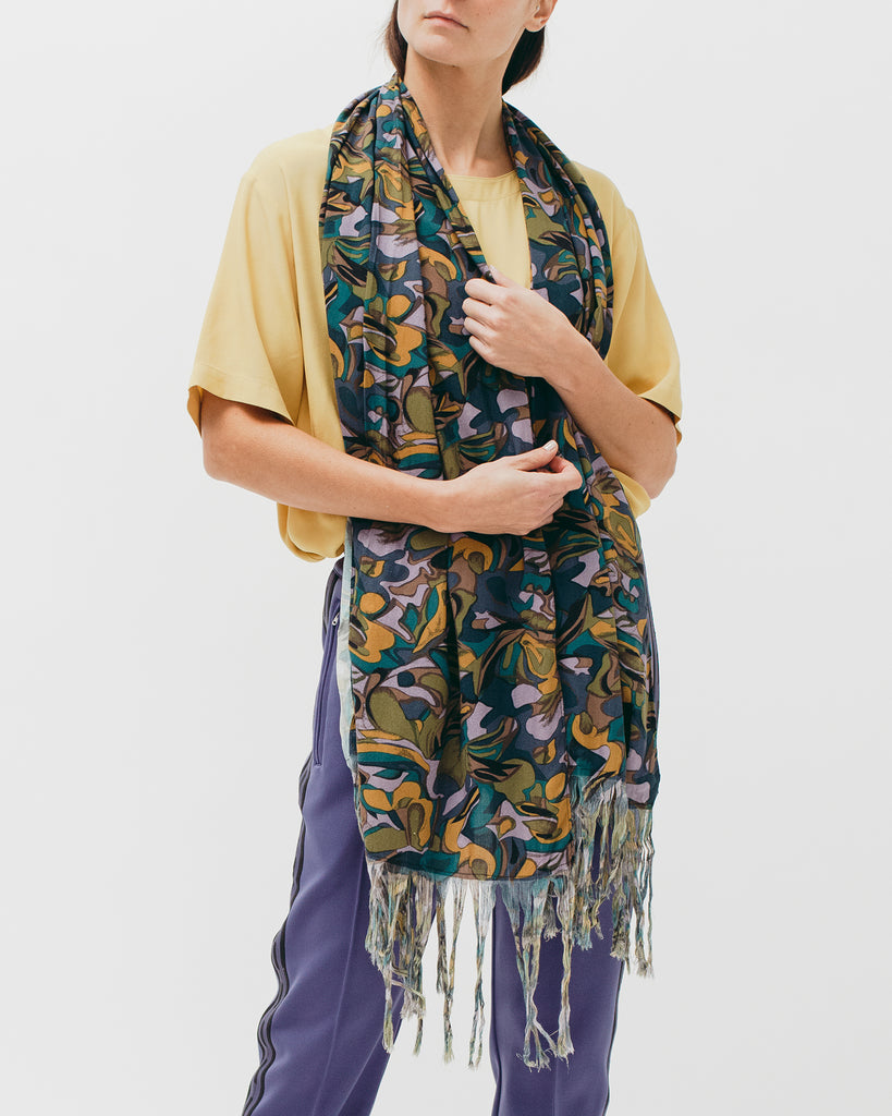 Tropical Rayon Oversized Scarf - Lavender - Maiden Noir