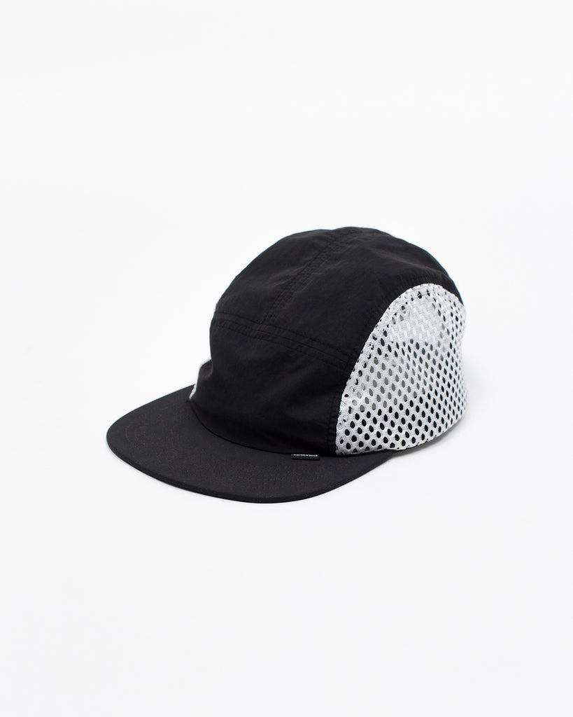 Brushed Nylon Sports Cap - Black - Maiden Noir