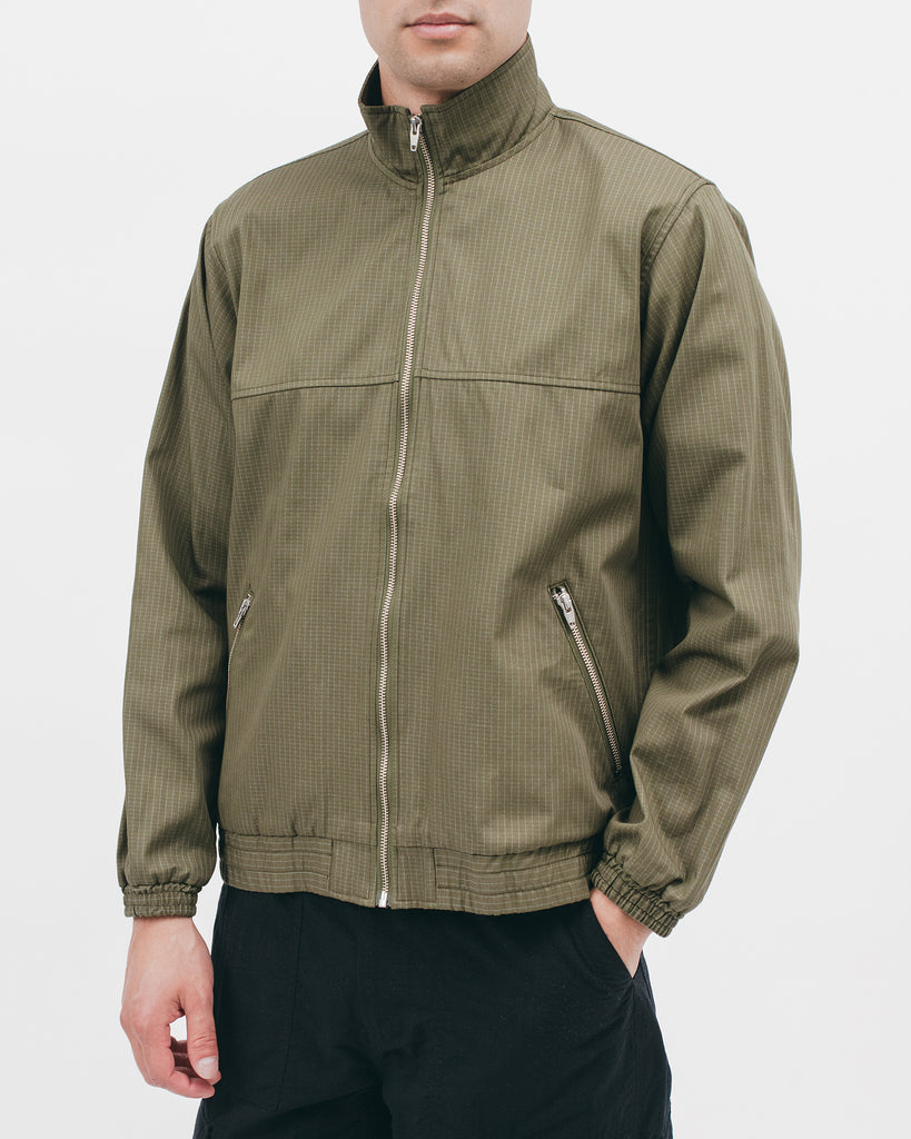 Track Jacket - Olive Grid - [product _vendor]