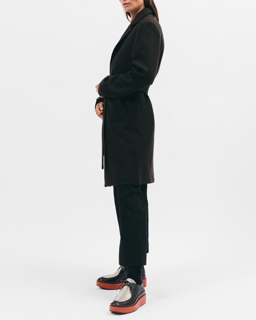 Belted Overcoat - Black - [product _vendor]