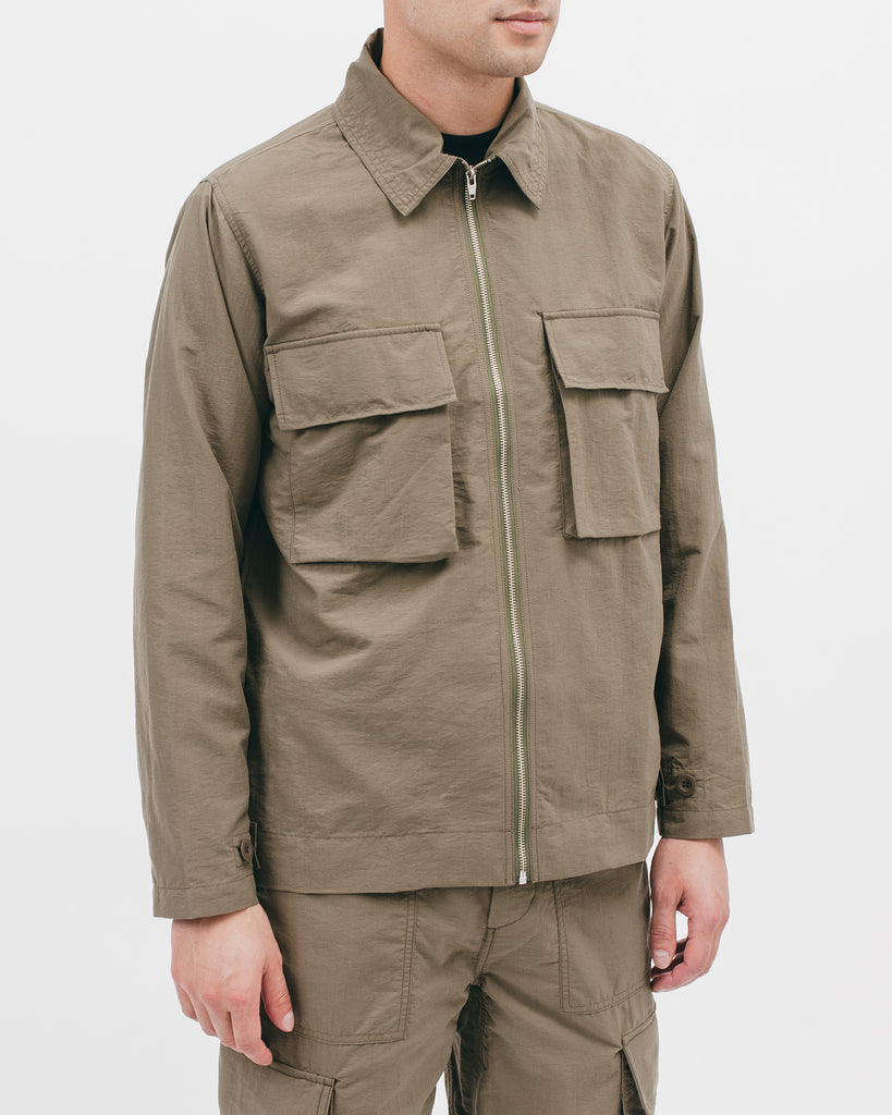 Nylon Poplin LS Shirt - Moss - [product _vendor]