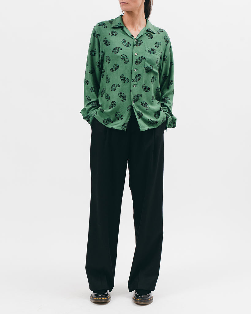 Paisley Rayon LS Shirt - Jade - [product _vendor]