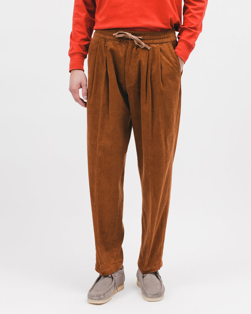 Elastic Trouser - Camel Cord - [product _vendor]