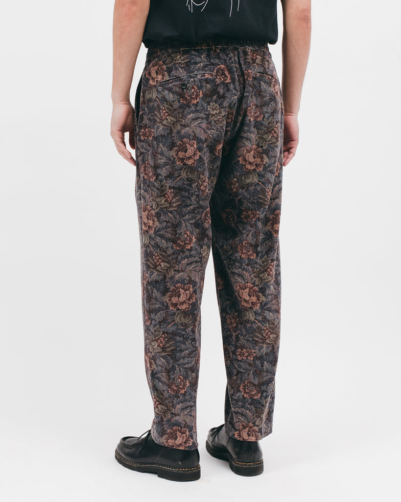 Relaxed Pleated Trouser - Dusk Floral - [product _vendor]