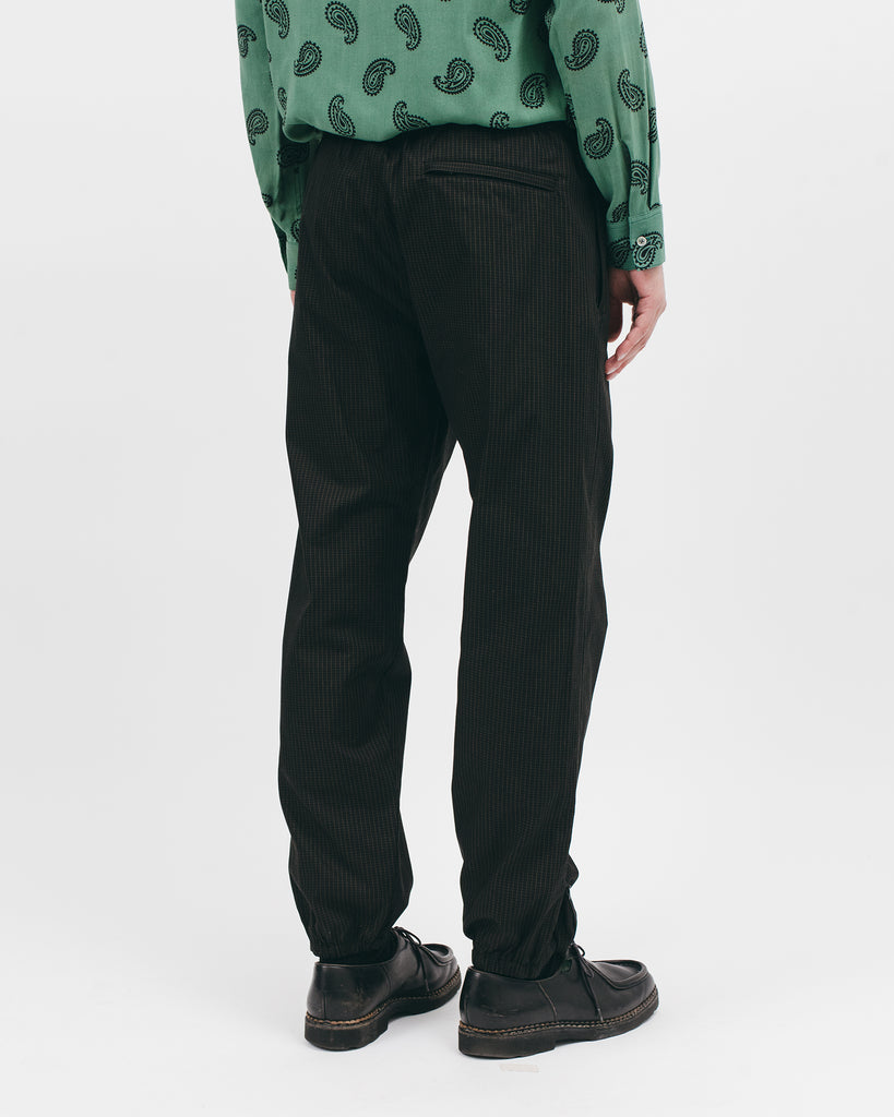 Elastic Track Trouser - Black Grid - [product _vendor]