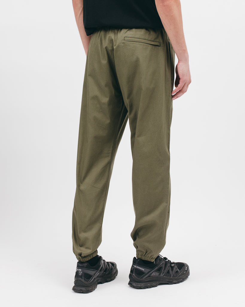 Elastic Track Trouser - Olive Grid - [product _vendor]