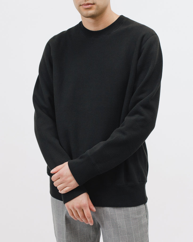 Natural Dyed Crew Fleece - Black - [product _vendor]