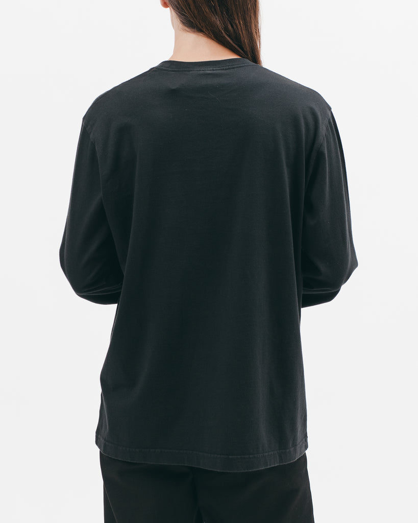 Natural Dyed Block L/S Jersey - Black - [product _vendor]