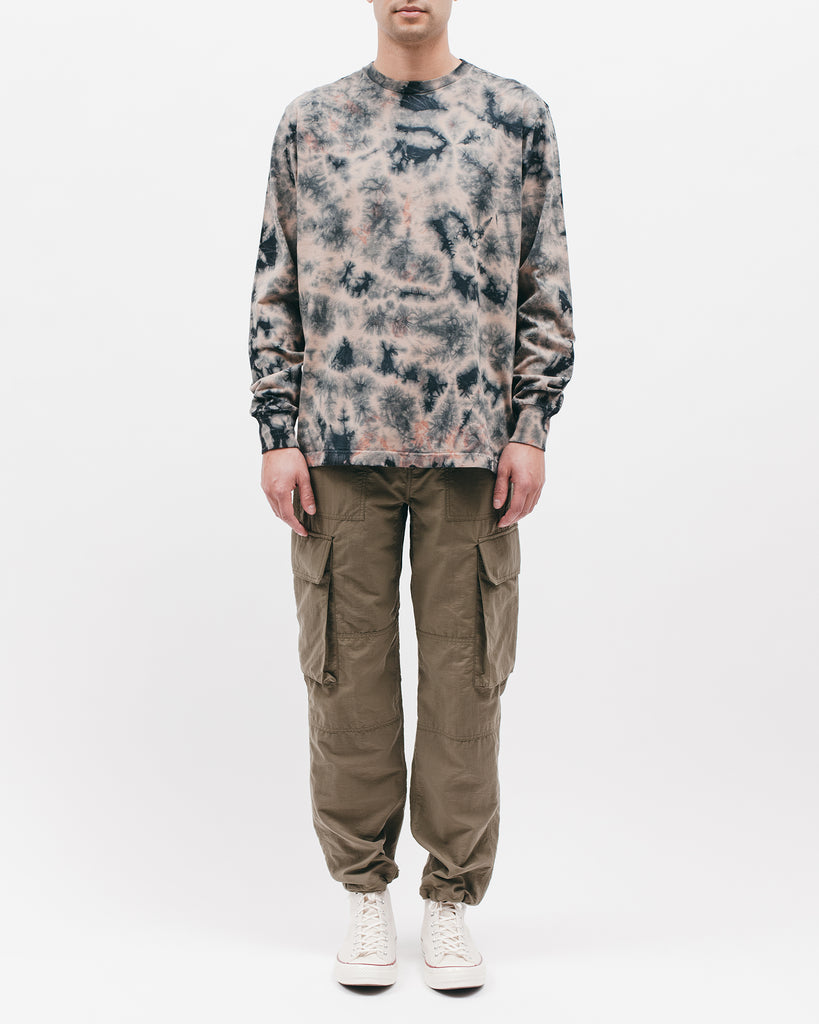 Natural Dyed Block L/S Jersey - Clay Dye