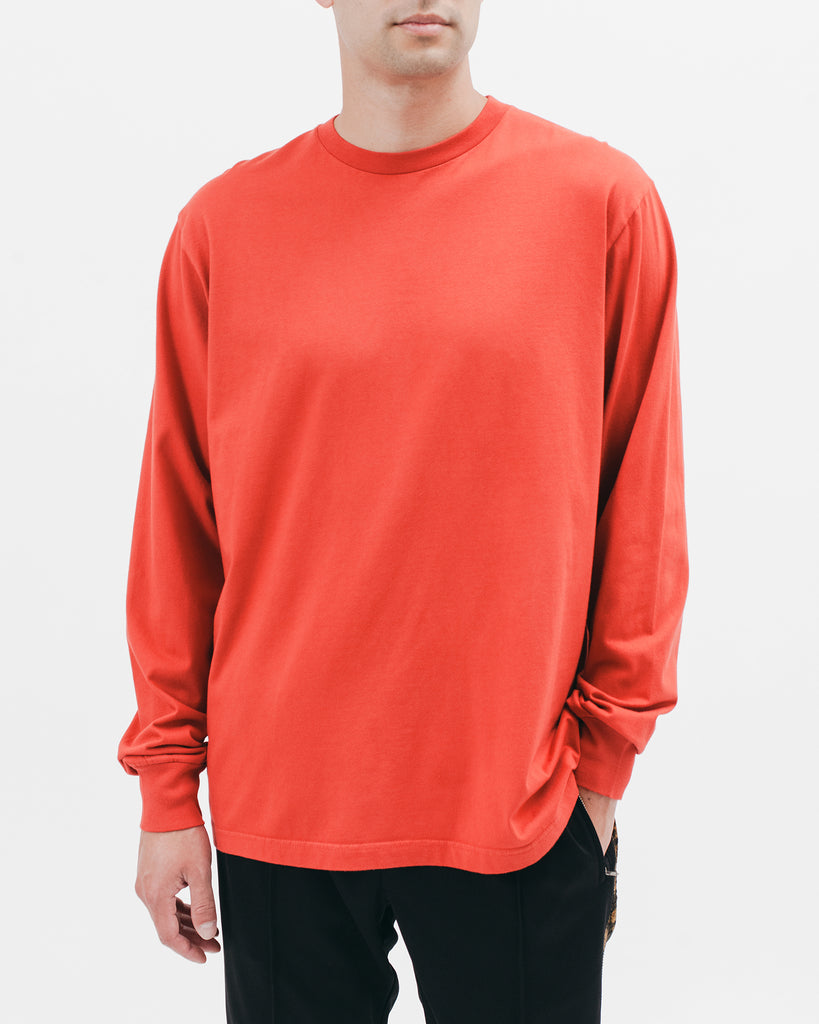 Natural Dyed Block L/S Jersey - Tomato - [product _vendor]