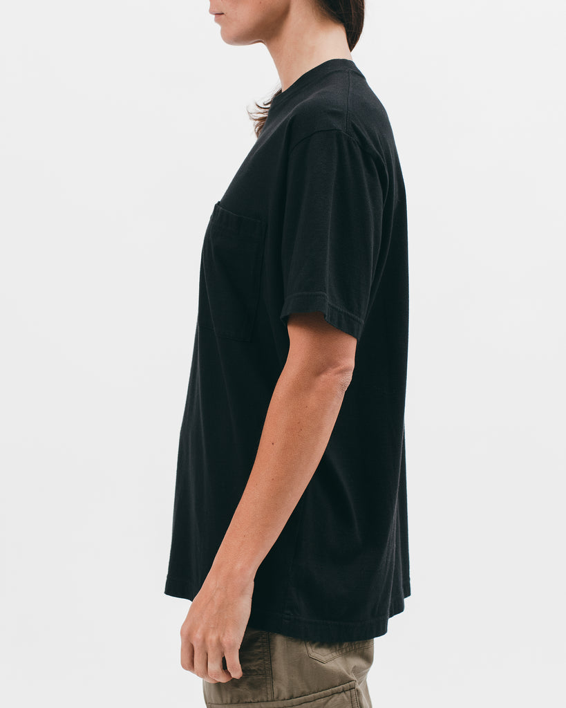 Natural Dyed Block S/S Jersey - Black - [product _vendor]