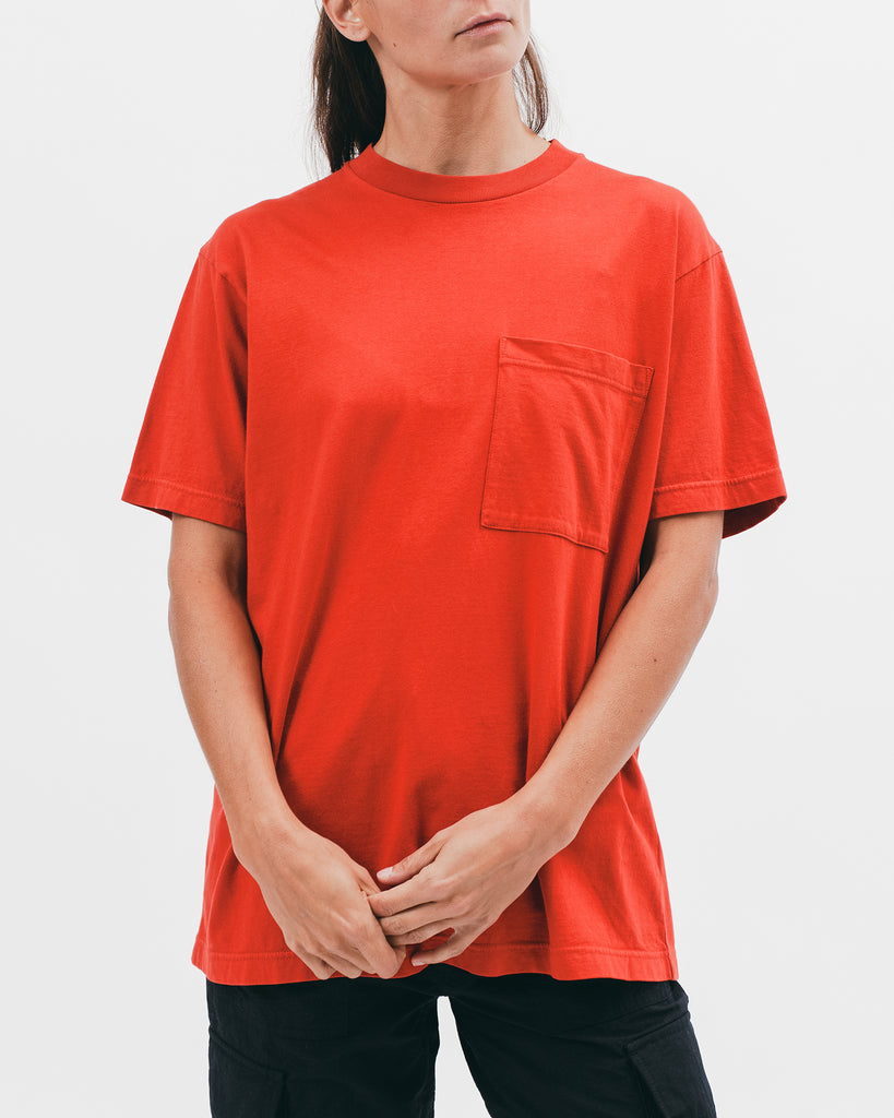 Natural Dyed Block S/S Jersey - Tomato - [product _vendor]