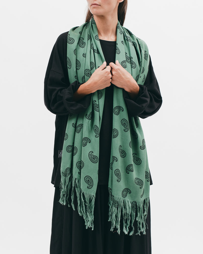 Rayon Oversized Scarf - Jade Paisley - [product _vendor]