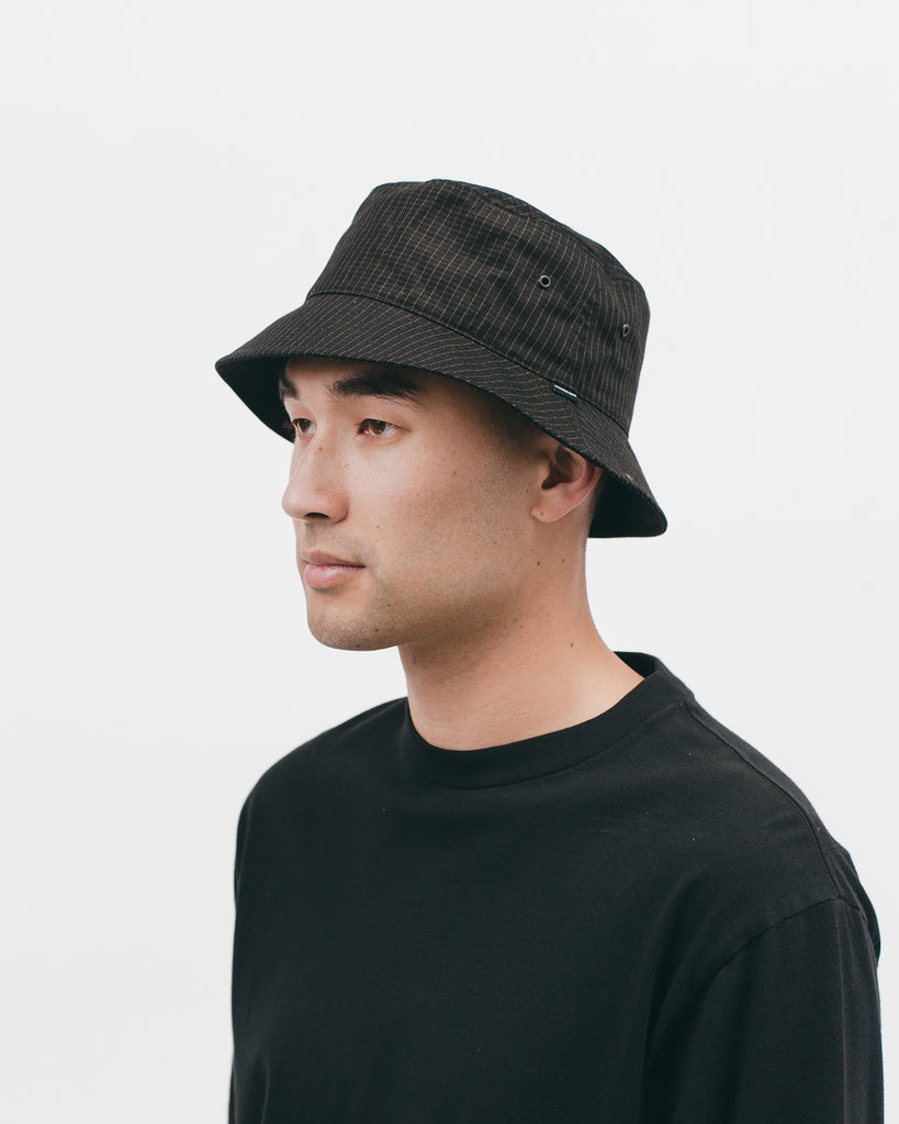 Bucket Cap - Black Grid - [product _vendor]