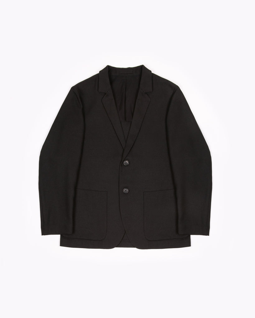 Single Breasted Jacket - Black Sharkskin