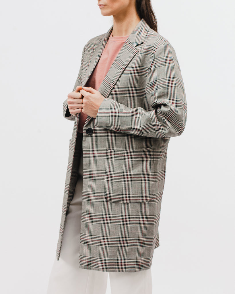 Long Blazer - Wales Plaid - [product _vendor]
