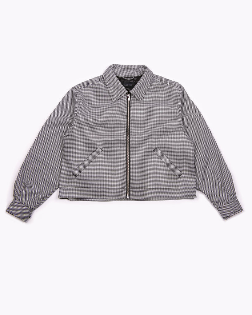Crop Harrington Jacket - Houndstooth