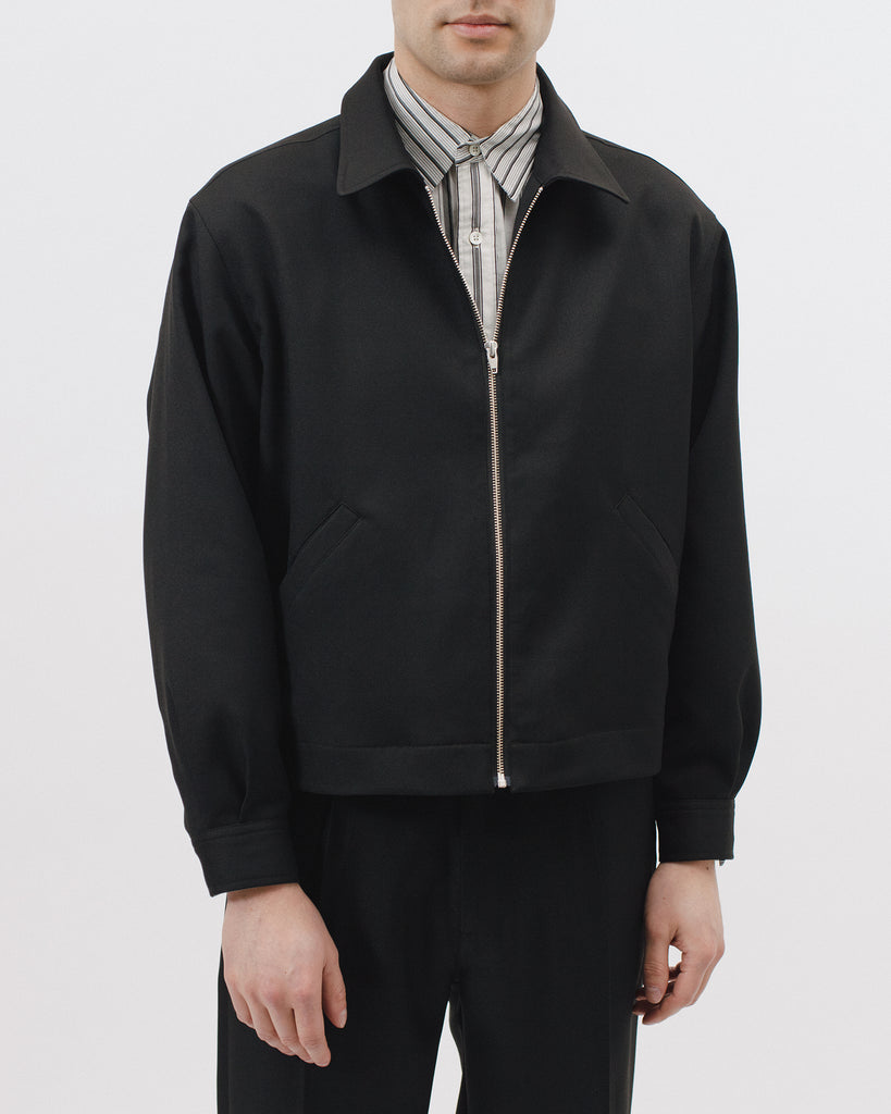 Crop Harrington Jacket - Black Sharkskin - [product _vendor]