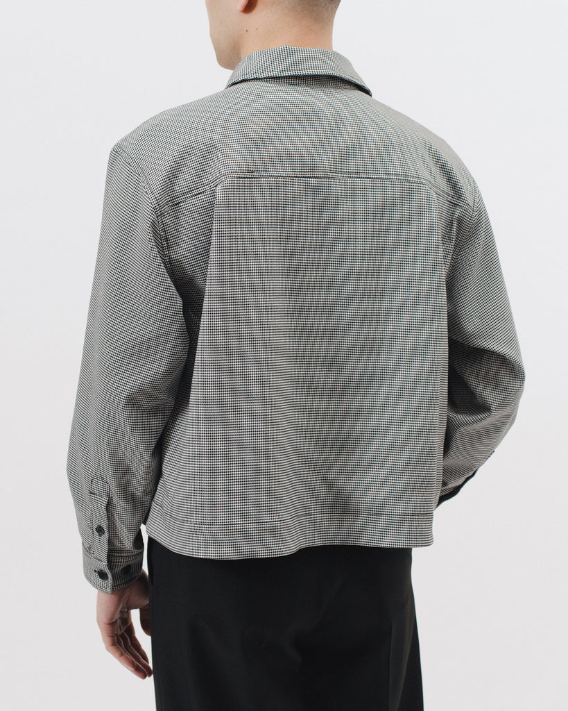 Crop Harrington Jacket - Houndstooth - [product _vendor]