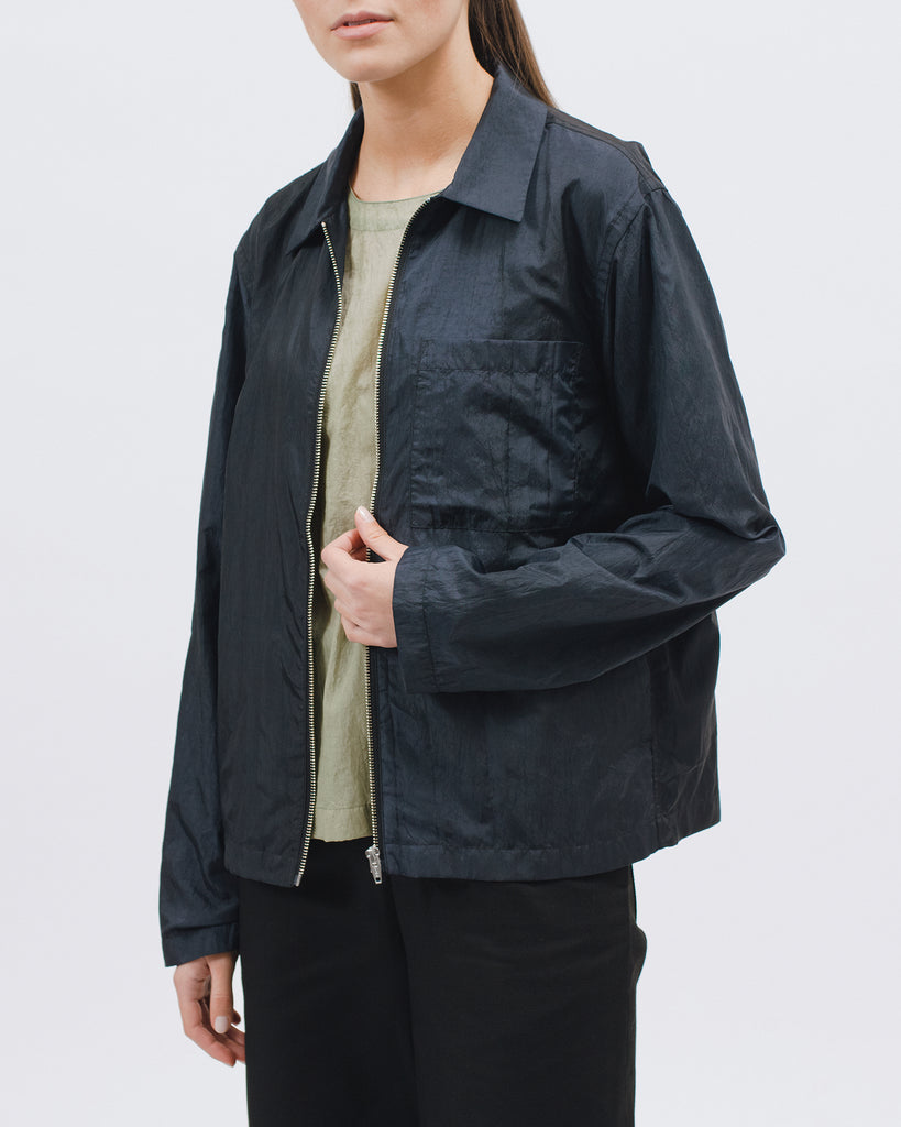 Marble Zip Blouson - Black - [product _vendor]