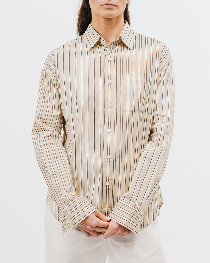 Stripe LS Shirt - Beige Stripe - [product _vendor]