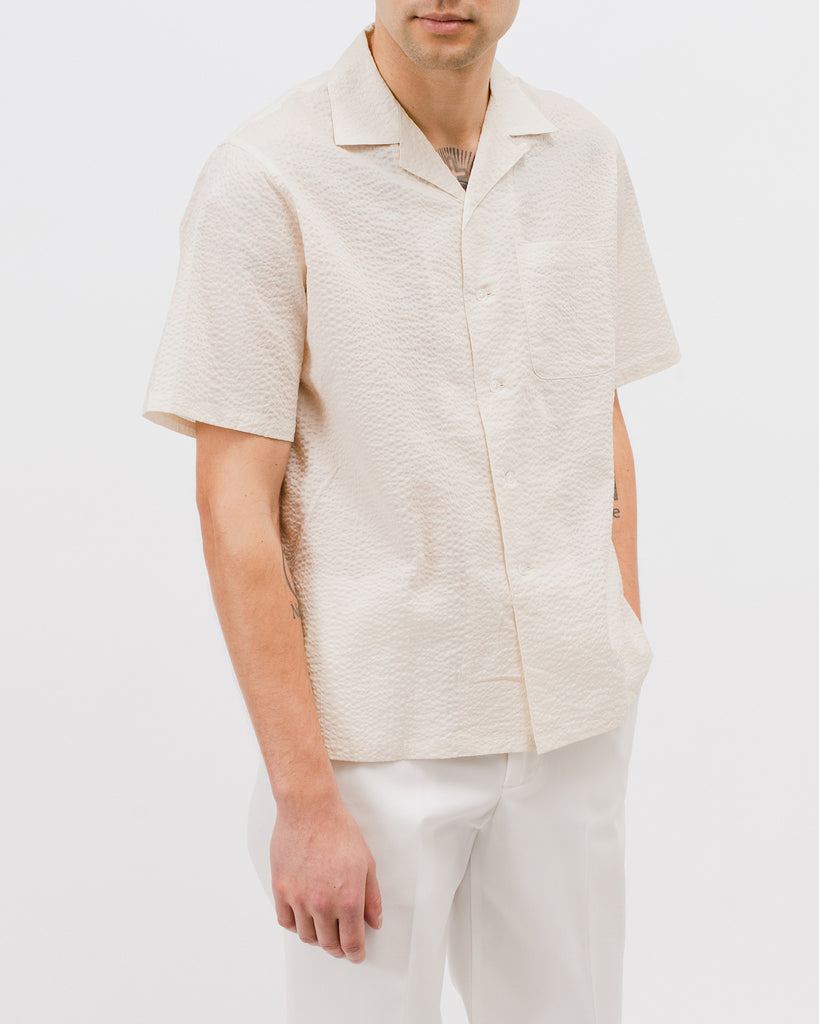 Crepe SS Shirt - Natural - Maiden Noir