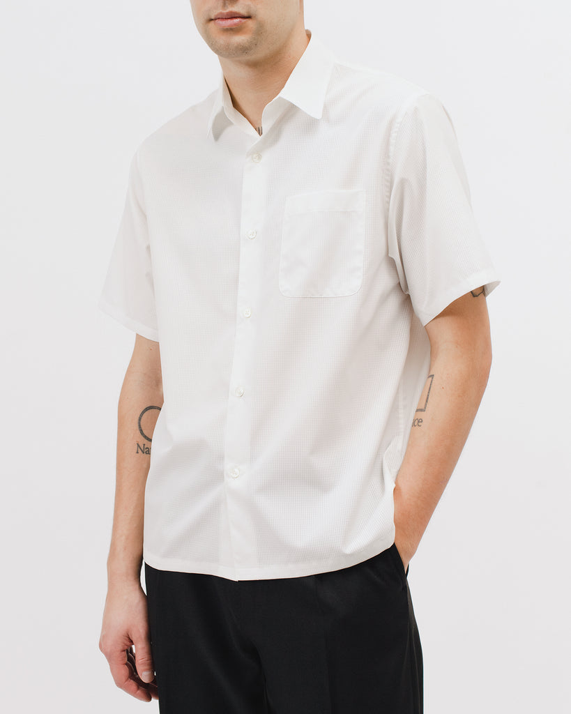 Mesh SS Shirt - Natural White - [product _vendor]